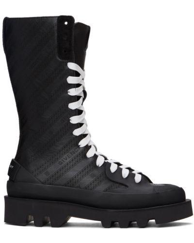 Koronkowa czarny buty obcasy zasznurować okrągły Givenchy
