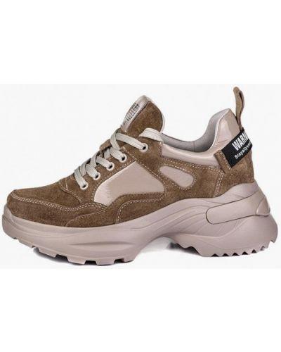 Кожаные кроссовки - бежевые My Day