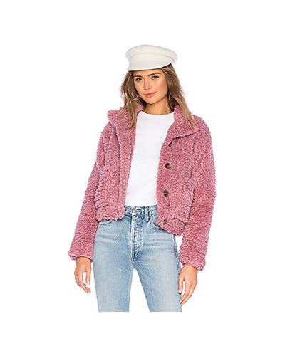 Джинсовая куртка плюшевая на пуговицах Tularosa
