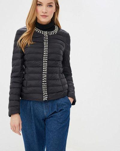 Черная утепленная куртка Softy