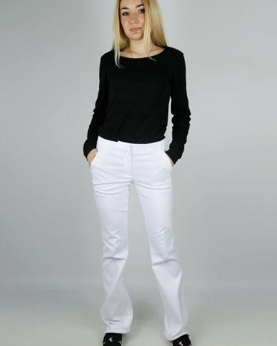 Хлопковые брюки - белые Mohito