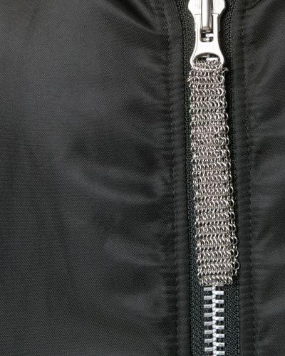 Нейлоновая черная куртка со вставками Ktz
