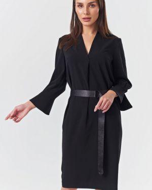 Платье с поясом с V-образным вырезом платье-сарафан Fly