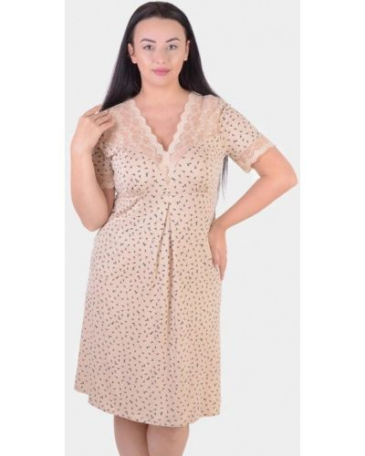 Домашнее бежевое платье N.el.
