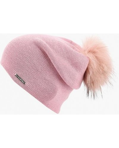 Розовая шапка осенняя Love Republic