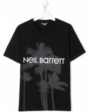 Рубашка черная на шею Neil Barrett Kids