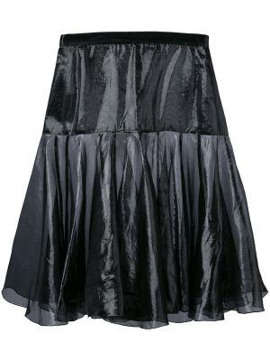 Черная юбка каскадная винтажная Krizia Pre-owned