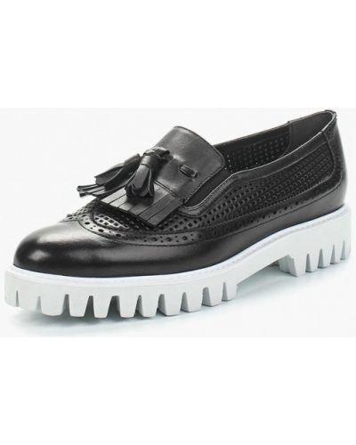 Черные лоферы на каблуке Vitacci