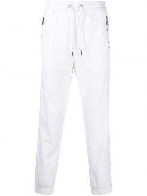 Białe spodnie z siateczką Giorgio Armani
