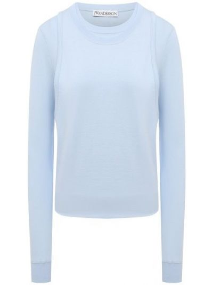 Трикотажный пуловер - голубой Jw Anderson