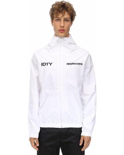 Biała kurtka z kapturem Applecore
