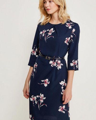Синее платье с длинными рукавами Zarina