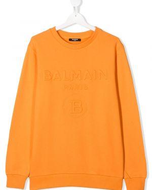Bluza pomarańczowy Balmain Kids