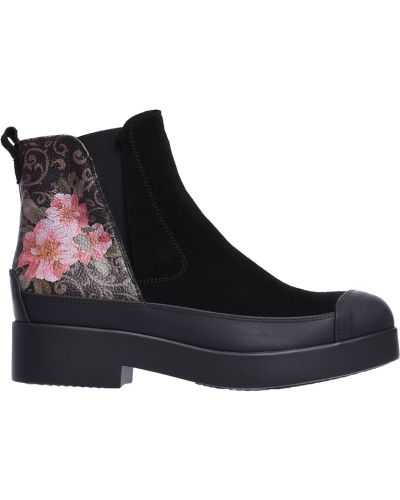 Ботинки на каблуке осенние замшевые Marzetti