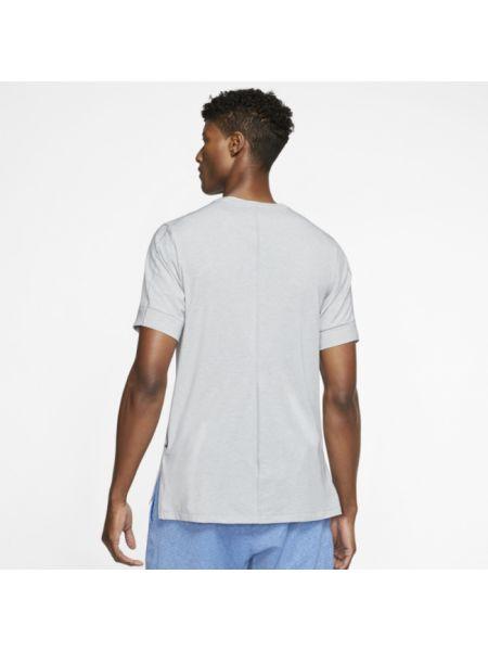 Koszula krótkie z krótkim rękawem szara z cięciem Nike