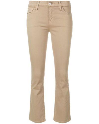 Бежевые укороченные джинсы J Brand