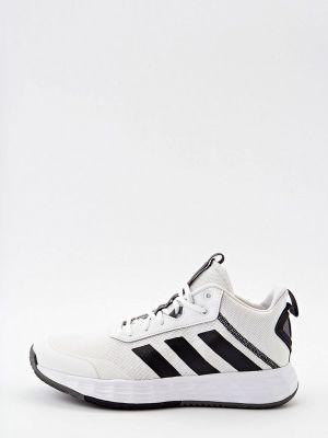 Текстильные высокие кроссовки - белые Adidas