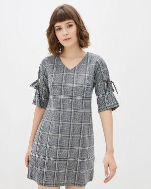 Платье серое прямое Yumi