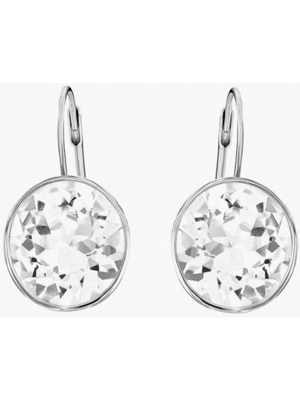 Серьги маленькие серебряного цвета Swarovski