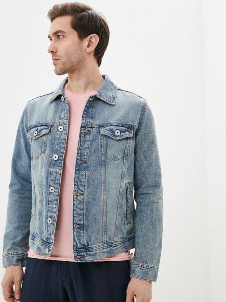 Синяя джинсовая куртка прозрачная Colin's