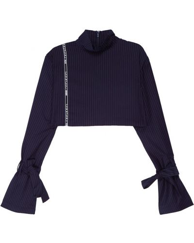 Блузка с длинным рукавом с воротником-стойкой с нашивками Daily Paper