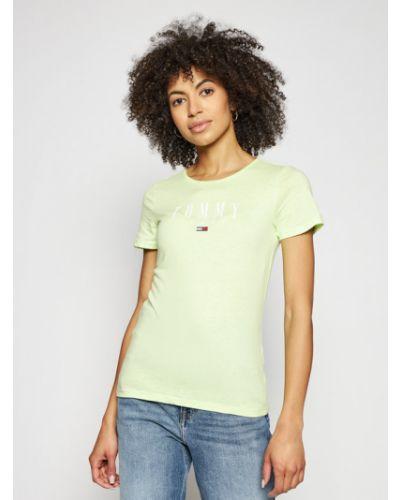 Zielony koszula jeansowa Tommy Jeans