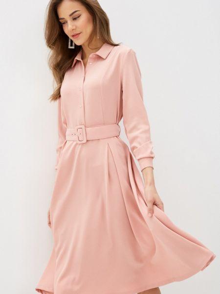 Платье розовое серое Incity