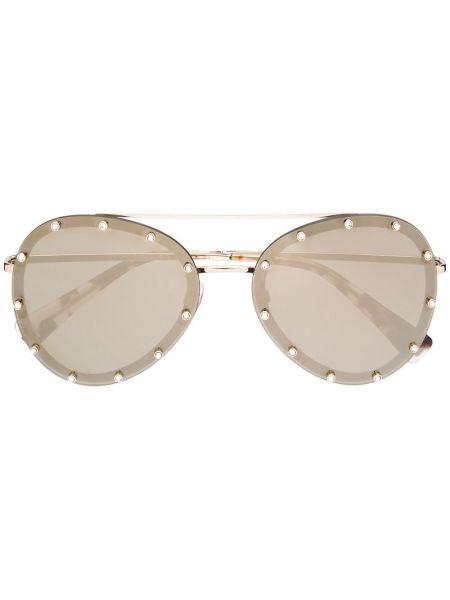 Okulary przeciwsłoneczne dla wzroku szkło srebro Valentino Eyewear