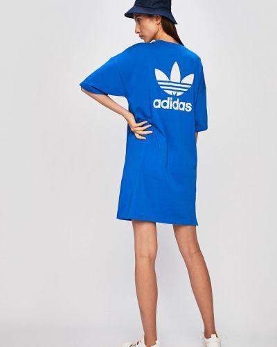 Платье свободного кроя синее Adidas Originals
