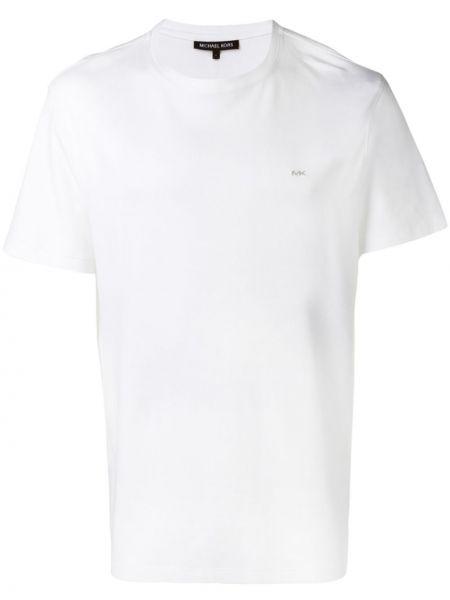 Прямая с рукавами белая футболка Michael Kors