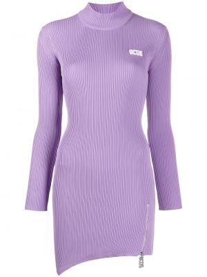 Приталенное фиолетовое платье макси с длинными рукавами Gcds