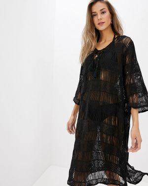 Пляжное платье черное индийский Indiano Natural