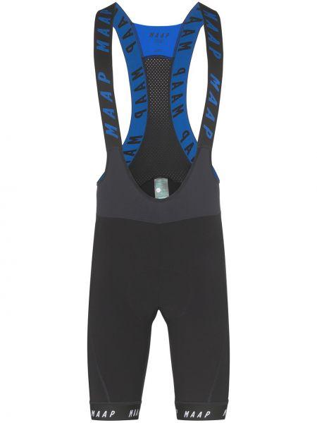 Черные облегающие спортивные шорты на бретелях Maap