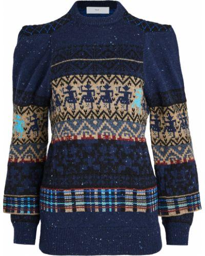 Шерстяной пуловер сетчатый с манжетами Toga Pulla