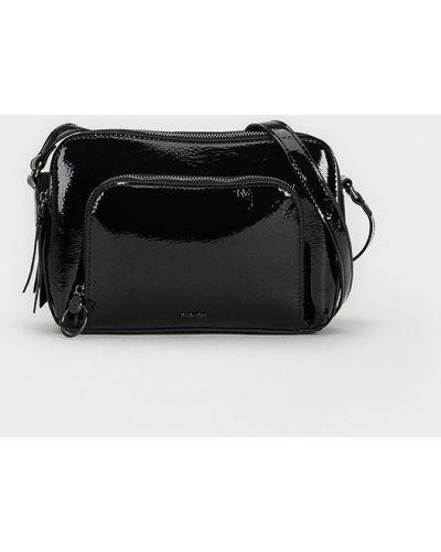 Skórzany portfel długo czarny Parfois