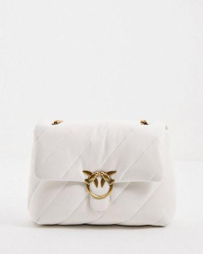 Белая кожаная сумка через плечо Pinko