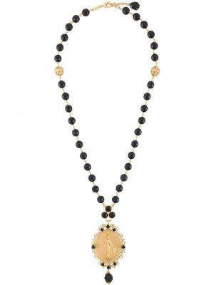 Czarny wisiorka ze złota z koralikami Dolce And Gabbana