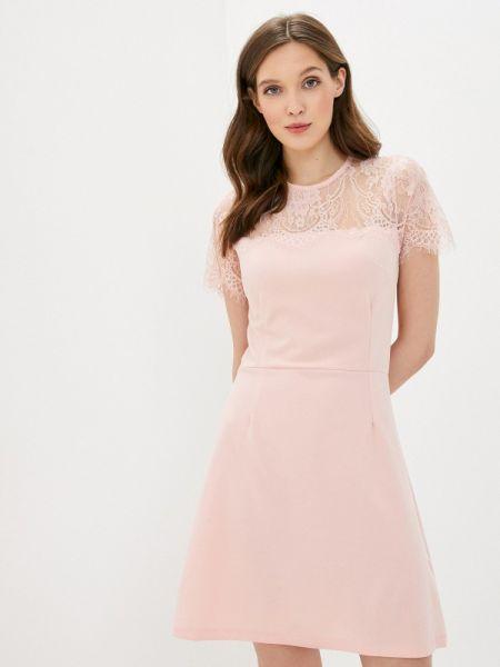 Платье розовое прямое Incity