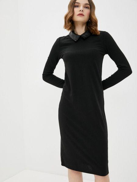 Платье вязаное черное Concept Club