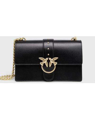 Черная сумка через плечо с перьями Pinko