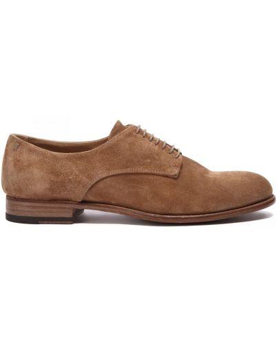 Коричневые кожаные туфли закрытые Pantanetti