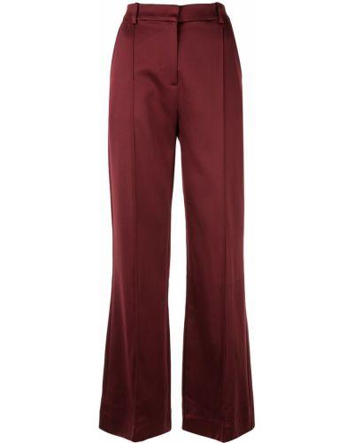 Satynowe spodnie z paskiem rozkloszowane Munthe