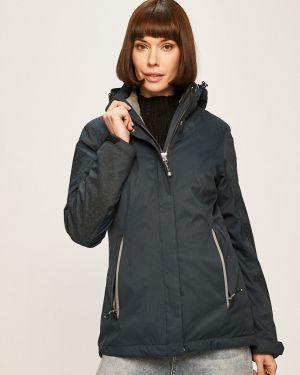 Синяя куртка с капюшоном с запахом Killtec