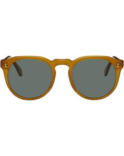 Okulary srebrne - zielone Raen