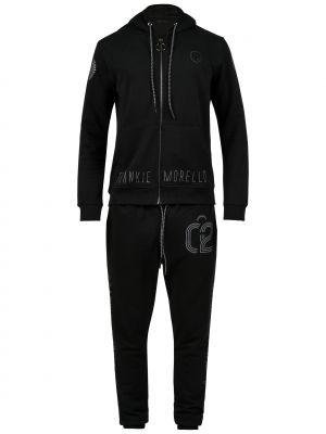Хлопковый спортивный костюм - черный Frankie Morello