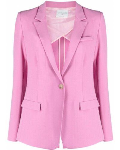 Ватная розовая длинная куртка с карманами Forte Forte