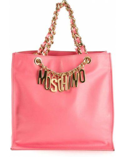 Różowy złoty łańcuch ze złota Moschino
