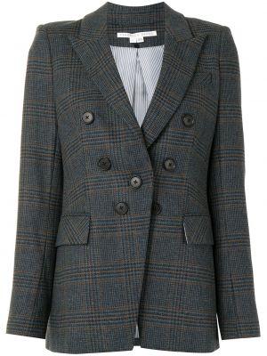 С рукавами синий прямой удлиненный пиджак на пуговицах Veronica Beard
