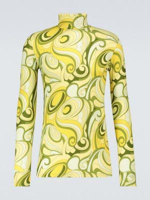 Желтая водолазка стрейч Raf Simons