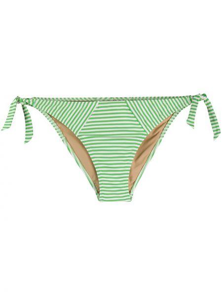 Нейлоновые зеленые плавки бикини в полоску Marlies Dekkers
